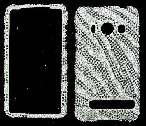 STONES COVER CASE FOR HTC EVO 4G SILVER WAVES (Htc Evo 4g Crystal)