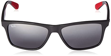 Amazon.com: Ray-Ban Injected Man Sunglasses - Grey Frame Grey Gradient Mirror Lenses 58mm Non-Polarized: Clothing