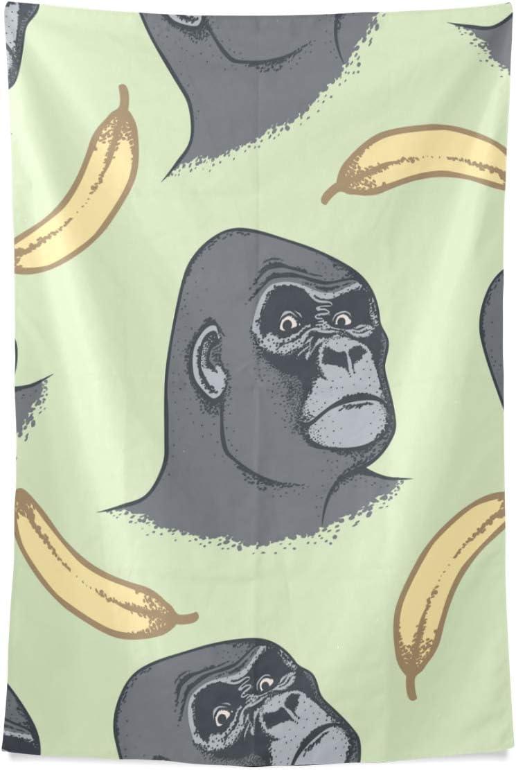 Petite Tapisserie Gorille Drole Foret Animaux Mur Tapisserie Tenture Murale Cool Post Imprimer Pour Dortoir Maison Salon Chambre 80 X 60 Pouce Grand Mur Art Decor Amazon Fr Cuisine Maison