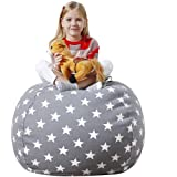Aubliss Stuffed Animal Bean Bag Storage Chair, Beanbag Covers Only for Organizing Plush Toys, Turns into Bean Bag Seat…