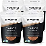Terrasoul Superfoods Organic Carob Powder, 4 Lbs (4 Pack) - Cocoa Powder Alternative   High in Fiber