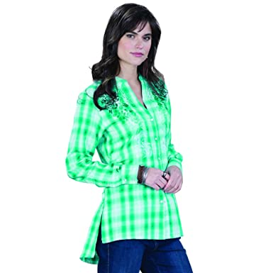 cd37fed331958c Image Unavailable. Image not available for. Color  Panhandle Palomino Plaid  Top