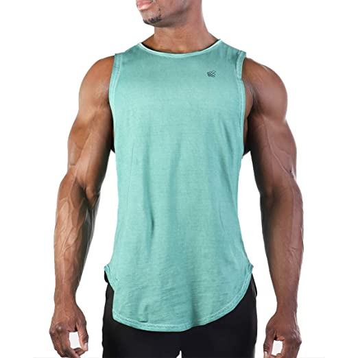 ccaa16a20 Amazon.com: Jed North Muscle Cut Stringer Workout T-Shirt Muscle Tee  Bodybuilding Tank Top Green: Clothing