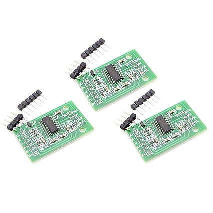 HiLetgo 3pcs HX711 Weighing Sensor Dual-Channel 24 Bit