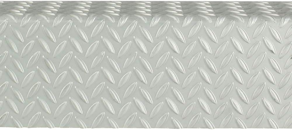 1000 mm de largo, 1,5//2,0 mm, con bordes al mismo tiempo Chapa estriada de aluminio en /ángulo para calentar en l/ágrimas