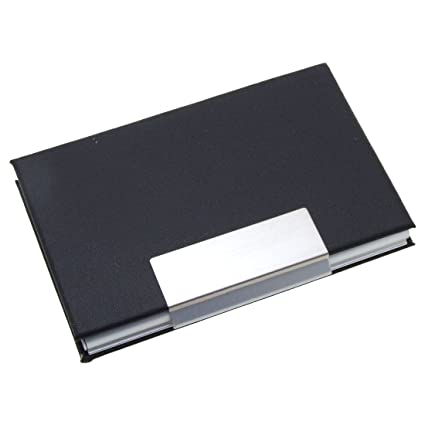 Amazon uxcell elegant metal business cards holder coated uxcell elegant metal business cards holder coated leather black colourmoves