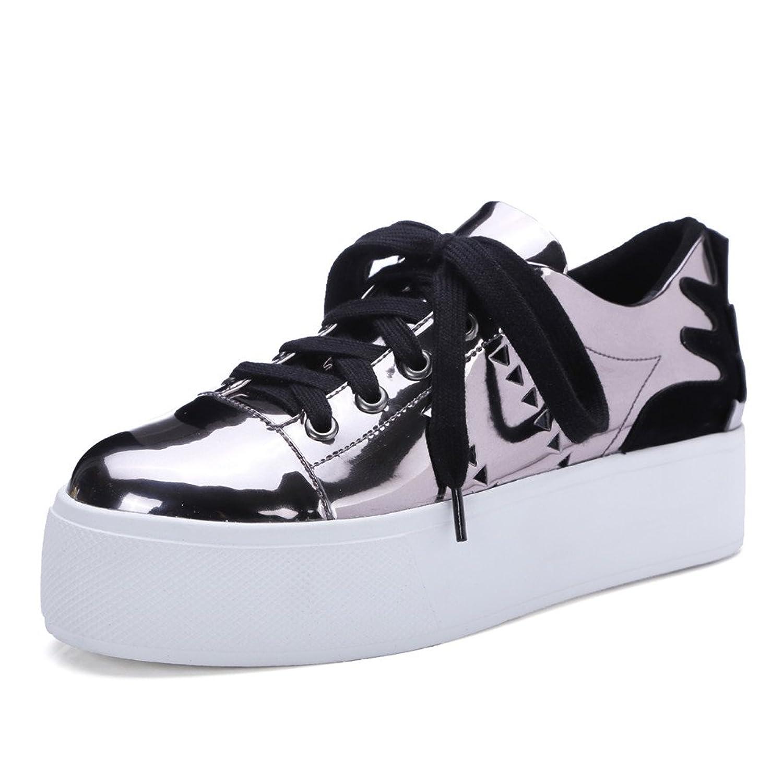 MINIVOG Women's Height Increasing Platform Casual Oxfords Shoes