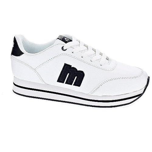 Mustang 47606 - Zapatillas Niña Blanco Talla 37: Amazon.es: Zapatos y complementos