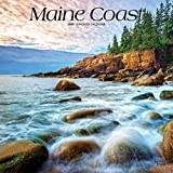 Maine Coast 2020 12 x 12 Inch Monthly Square Wall Calendar, USA United States of America Northeast State Ocean Sea Nature