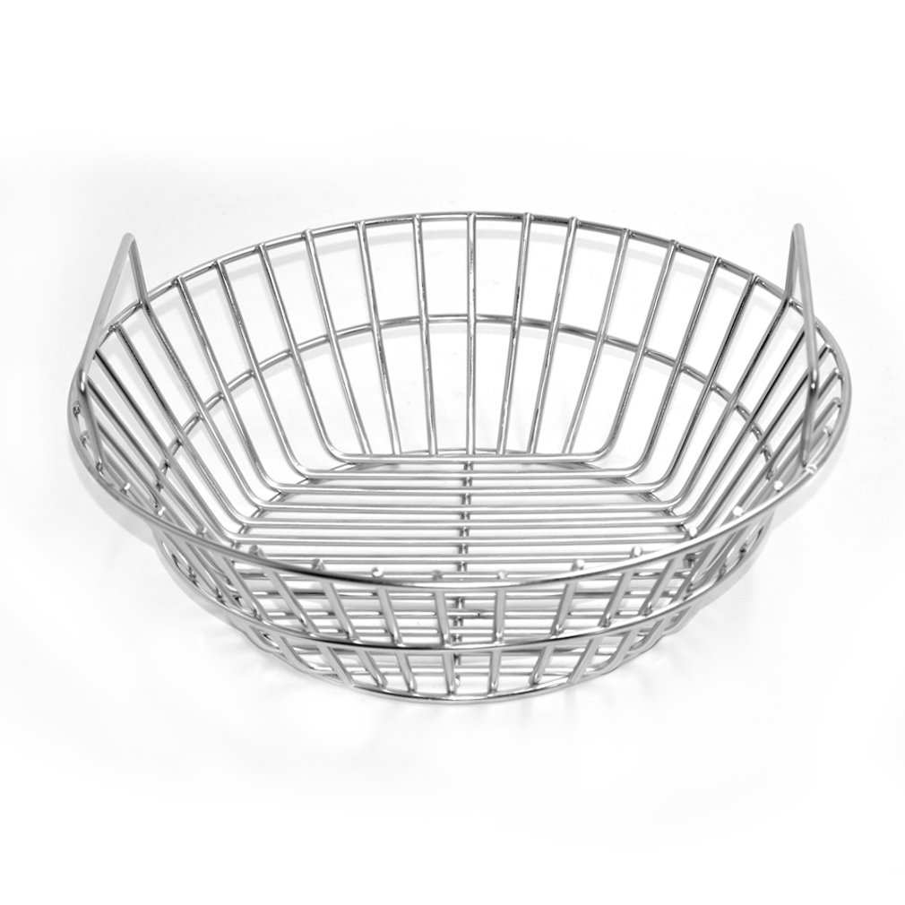 Onlyfire Stainless Steel Charcoal Ash Basket Fits for Large Big Green Egg Grill, Kamado Joe Classic, Pit Boss, Louisiana Grills,Primo Kamado Grill and Large Grill Dome by only fire