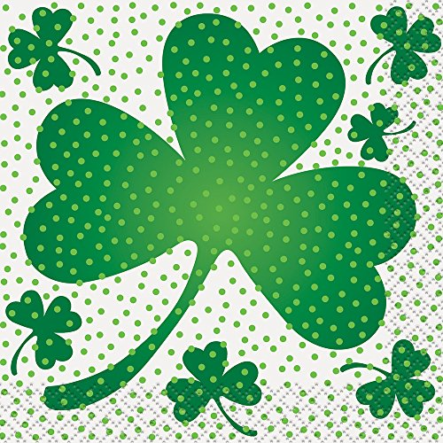 Lucky Shamrock St. Patrick's Day Beverage Napkins, 16ct