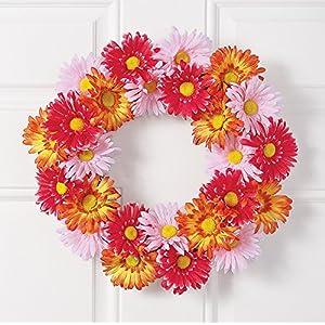 Gerbera Daisy Spring Wreath 16