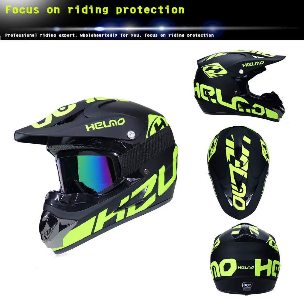 Vier Jahreszeiten Unisex Crosshelm Off-Road DH Enduro Motorrad Offroad-Helm f/ür Erwachsene M/änner Frauen Mrddz Motocross Helm Herren Motorradhelm mit Brille Handschuhe Maske