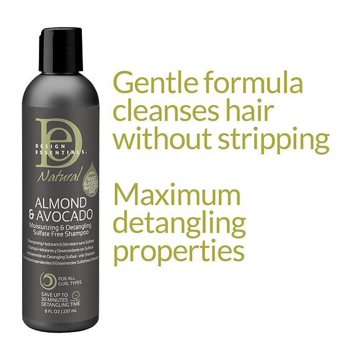 Design Essentials Natural Almond Avocado Women Shampoo 227 Ml