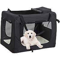 MC Star Bolsa de Perro Plegable Portátil Portador de Mascotas Transportín Perros XL 82 × 58 × 58 cm (Negro,Azul)