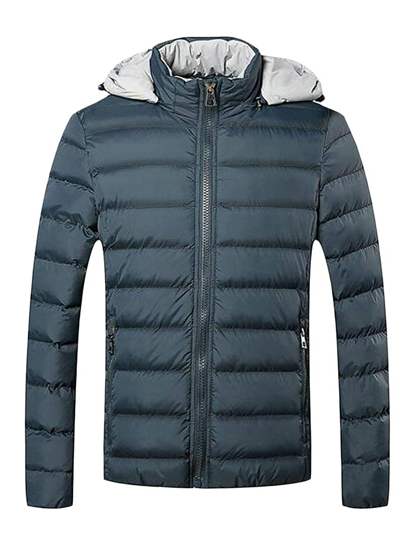 OTW Mens Winter Thermal Plus Size Thicken Down Quilted Puffer Jacket Coat Outerwear