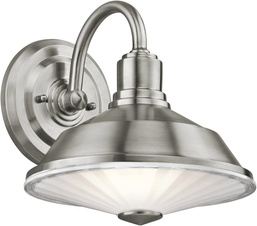 Kichler 49222SS OFFicial store Point Judith Outdoor Max 52% OFF Stainless Sconce Steel