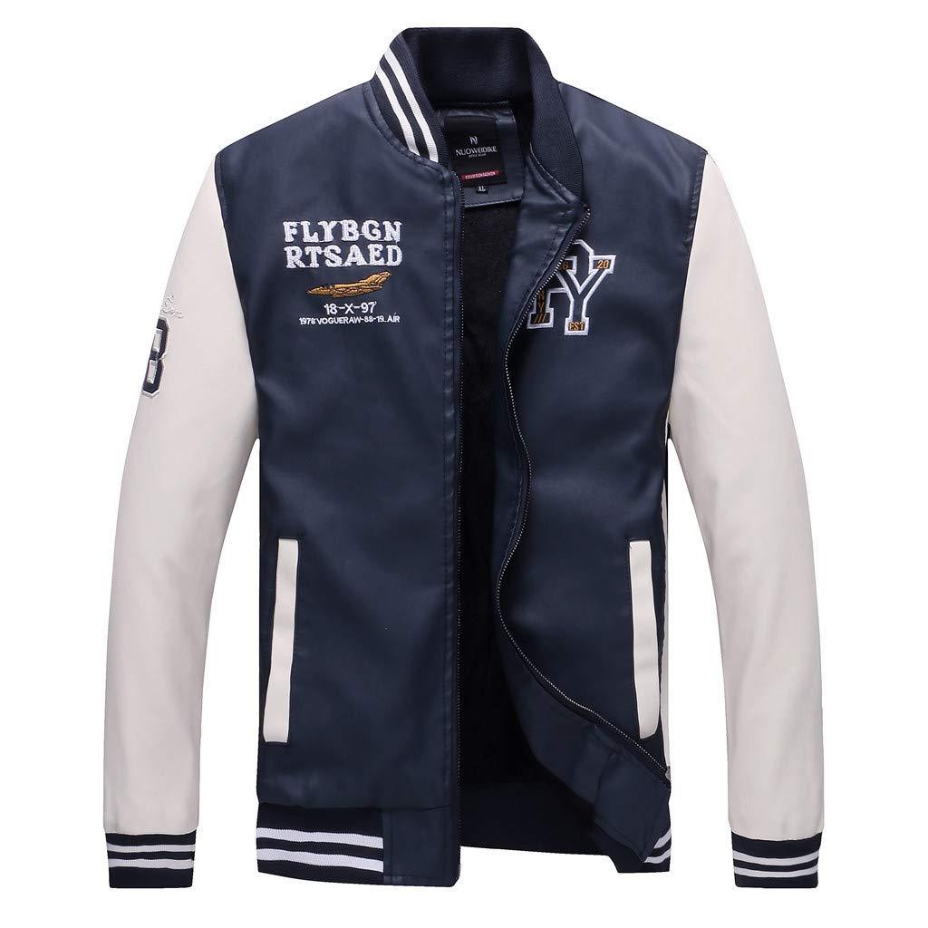 YKARITIANNA Men's Autumn Winter Fashion Casual Stand Collar Leather Coat 2019 Summer White