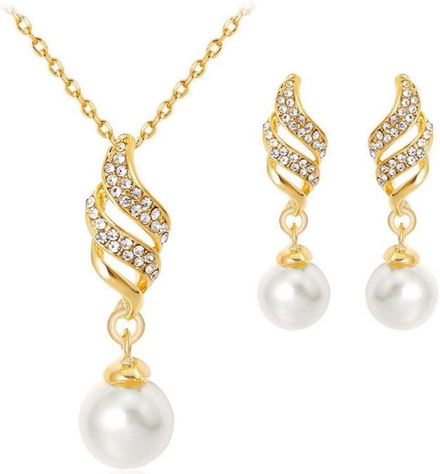 Schmuck /österreichischen Kristall Diamant Kleidung mit Zubeh/ör Halskette Ohrringe Anh/änger Charme Armband scrox Halskette Ohrringe Set