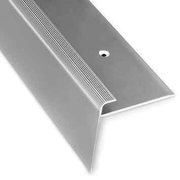 Breite 35 mm L Form 134 cm eloxiert Champagner Alu Stufenkantenprofil Integral selbstklebendes Treppen Profil