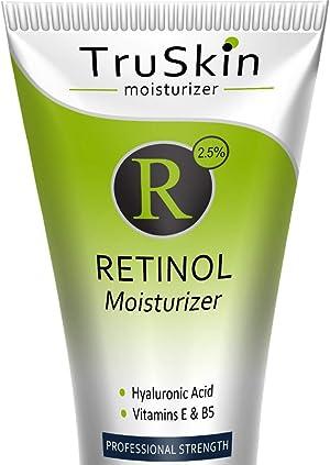 TruSkin Retinol Cream Anti-Wrinkle Moisturizer for Face Care and Eye Area with Hyaluronic Acid, Green Tea, 2 fl oz