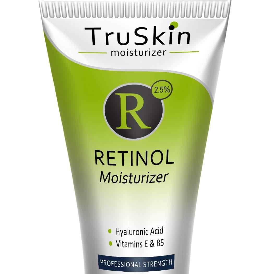 TruSkin RETINOL Cream MOISTURIZER for Face and Eye Area, Best for Wrinkles, Fine Lines - Vitamin A, E, B5, Hyaluronic Acid, Organic Jojoba Oil, Green Tea. 2 Fl Oz by TruSkin Naturals