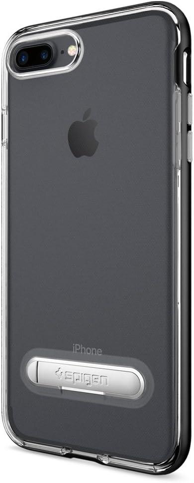 Spigen Crystal Hybrid Designed for Apple iPhone 7 Plus Case (2016) / Designed for iPhone 8 Plus Case (2017) - Gunmetal