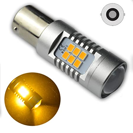 Ruiandsion 2pcs 1156 7506 BA15S LED Bulbs Non-polar Amber Yellow 2835  21-SMD Chipsets for Turn Signal Blinker Light Lamp Replacement AC 12V 24V:  ...