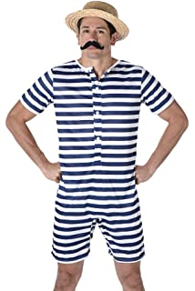 536bdd3da0 Bathing Suit Mens Fancy Dress 1920s Victorian Swimming Beach Adults 20s  Costume (XL 46 -