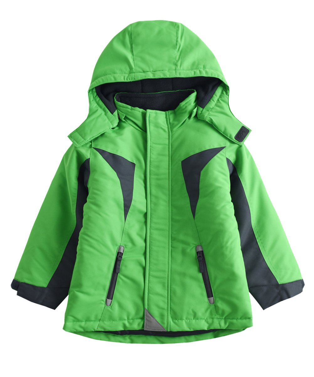 M2C Boys Thicken Warm Cotton Padded Ski Jackets with Hood 7T Green