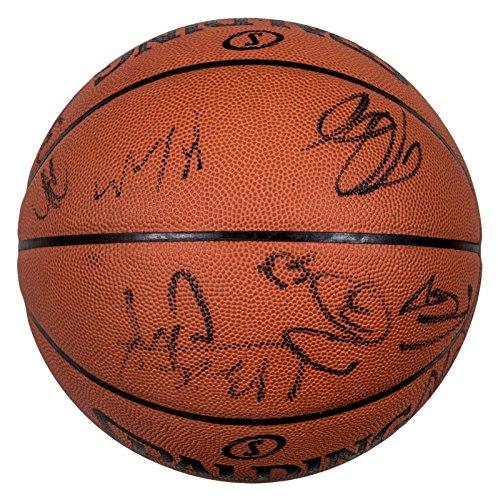 Yao Ming 2009-10 Houston Rockets Team Signed Spalding Basketball COA - JSA Certified - Autographed Basketballs ()