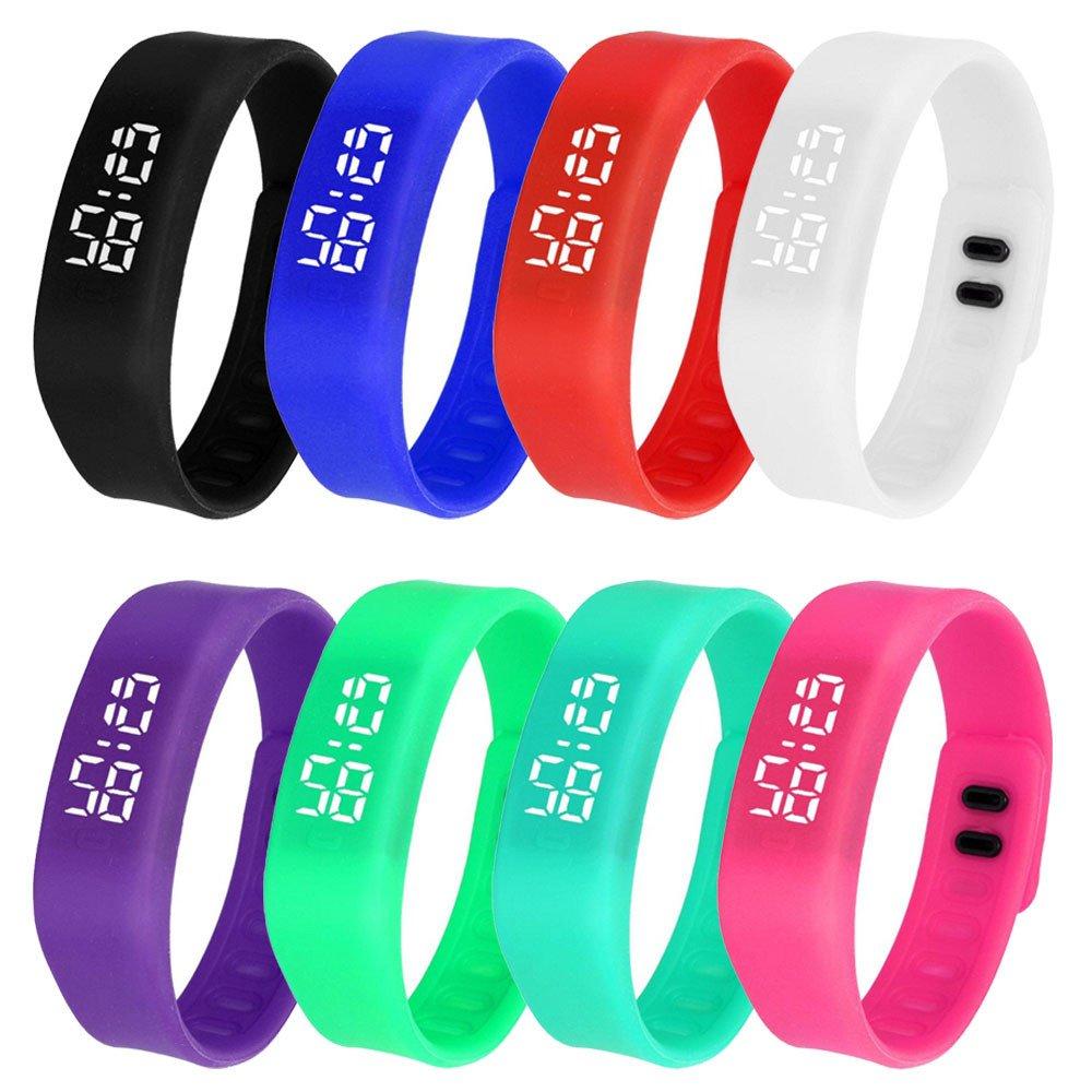 JiaMeng LED Reloj de Moda Deportivo Impermeable Reloj de Goma LED Reloj Fecha Pulsera de Deportes Reloj Digital Reloj (Blanco): Amazon.es: Ropa y ...