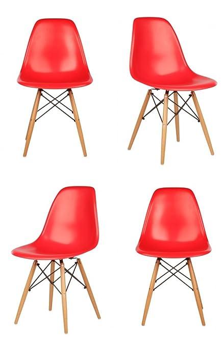 Amazon.com: Ariel DSW silla de carcasa de plástico de color ...