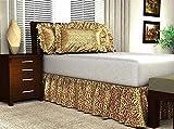 Leopard Print Satin Bed Skirt with 21″ Drop, Queen