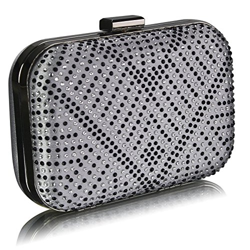 Leahward Silver Party Clutch Dinner For Evening Sparky Cwe00281 Crystal Purse Bag Women's rPUnazOr