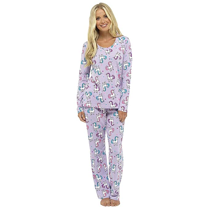 Ladies Pyjamas Set Nightwear Loungewear Unicorn Pug at Amazon Women s  Clothing store  bbcc7fb92a