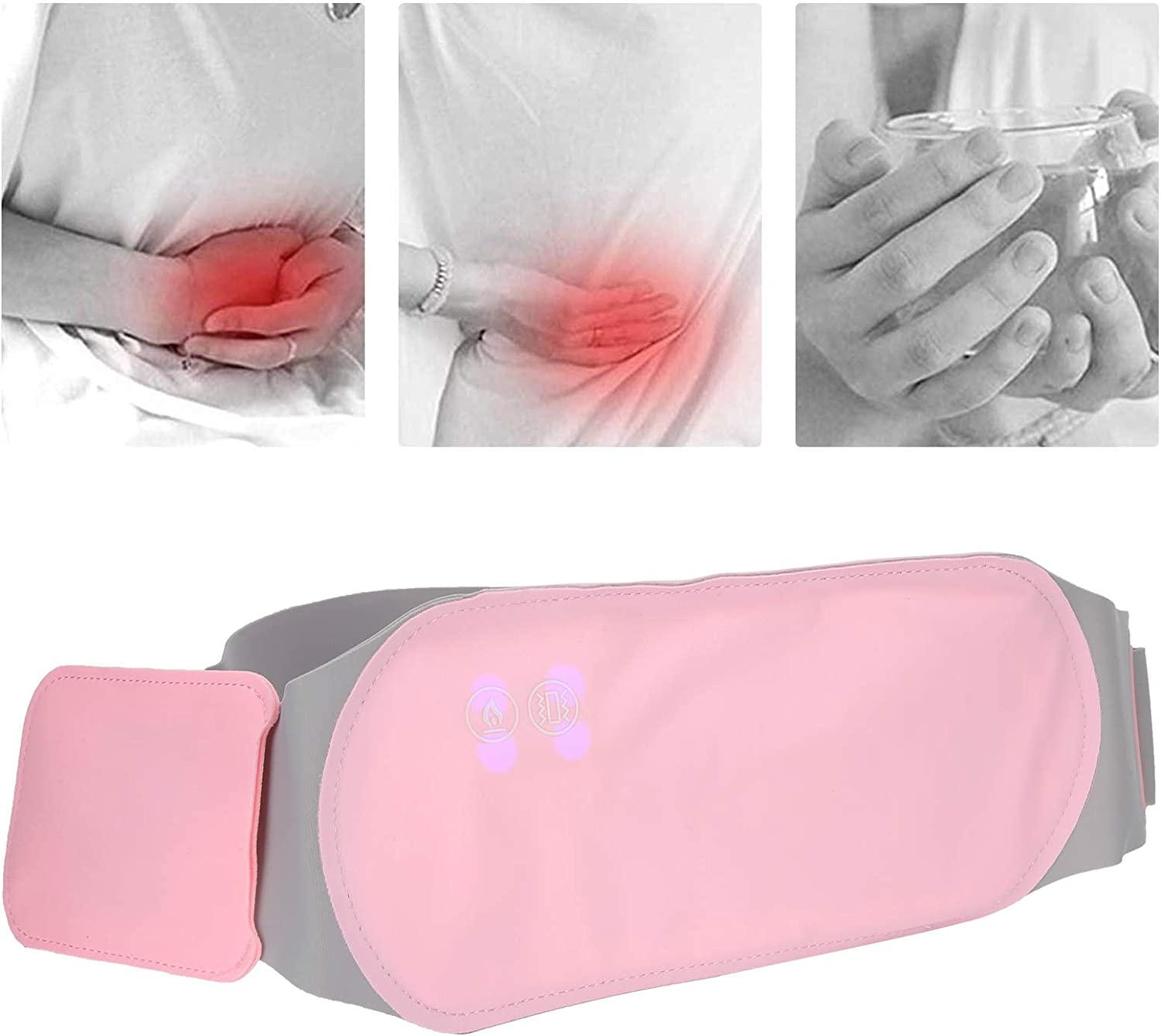 Menstrual Heating Pad Portable Electric Heated Waist Belt Women Girl Back Belly Heating Pad Warm Uterus Belt 3 Gears Menstrual Heating Pad Waterproof Electric Waist Heater For Cramps