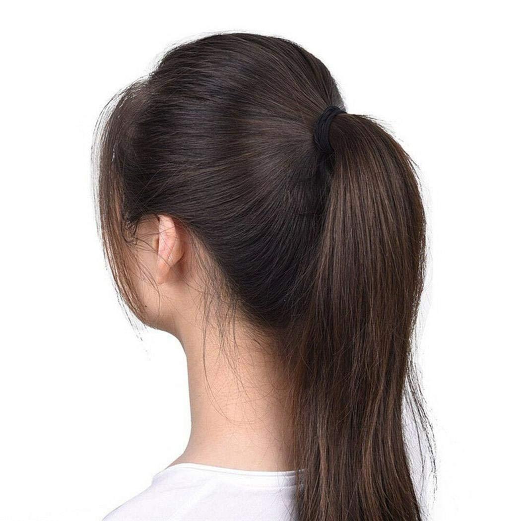 MYEDO Women Elastic Hair Rope Headwear Ring Ponytail Holder Hair Accessories Headwear Black