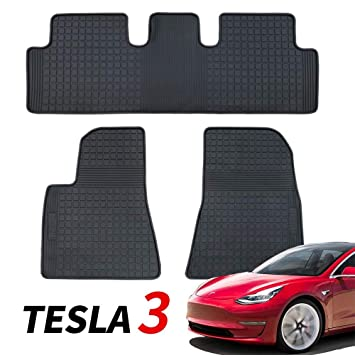 Amazon.com: BMZX - Juego de alfombrillas de goma para Tesla ...