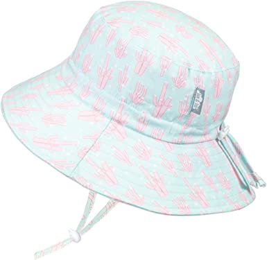 Adjustable Good Fit S: 0-6m, Dots Jan /& Jul Newborn Infant Baby Girl Boy Cotton Bucket Sun Hat 50 UPF Protection Stay-on Tie