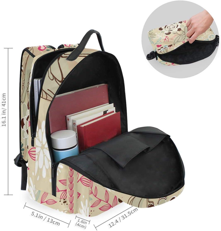 FAJRO Fascinating Bird Flower Sketching Travel Backpack and Cross Bag