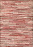 Couristan Monaco Collection Alassio Rug, Sand/Maroon/Salmon, 7'6″ by 10'9″