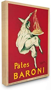 Stupell Industries Pates Baroni Vintage Poster Food, Design by Marcello Dudovich Wall Art, 16 x 20, Canvas