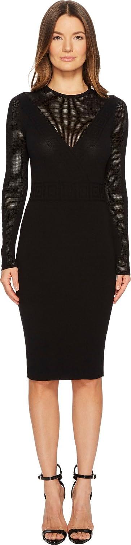281adb3bef69 Versace Collection Womens Abito Maglia Donna Long Sleeve Dress - Black -  46  Amazon.co.uk  Clothing