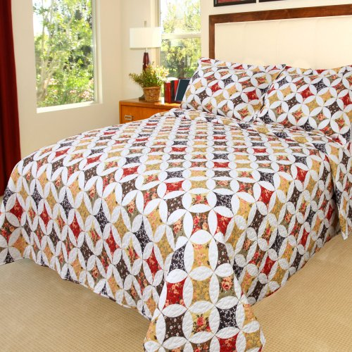 Cassandra Comforter Set - Bedford Home Cassandra Printed 2-Piece Quilt Set, Twin