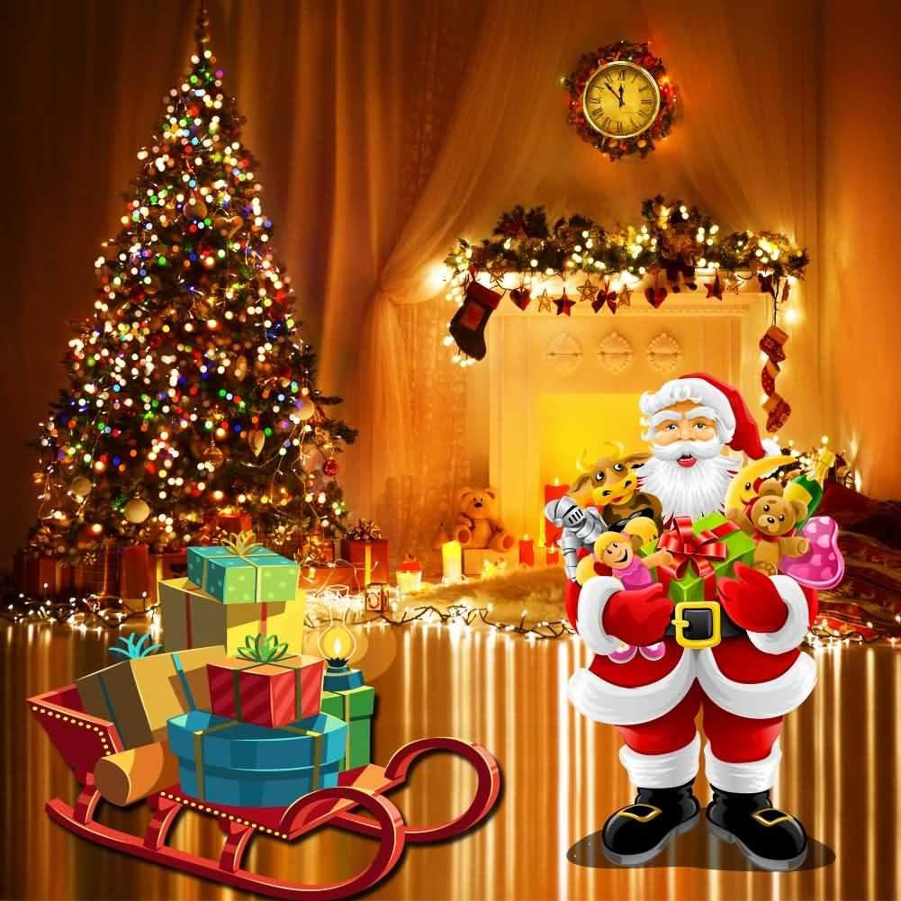 クリスマステーマG_クリスマス-7 5x5 HXB-536 B07JGT561N