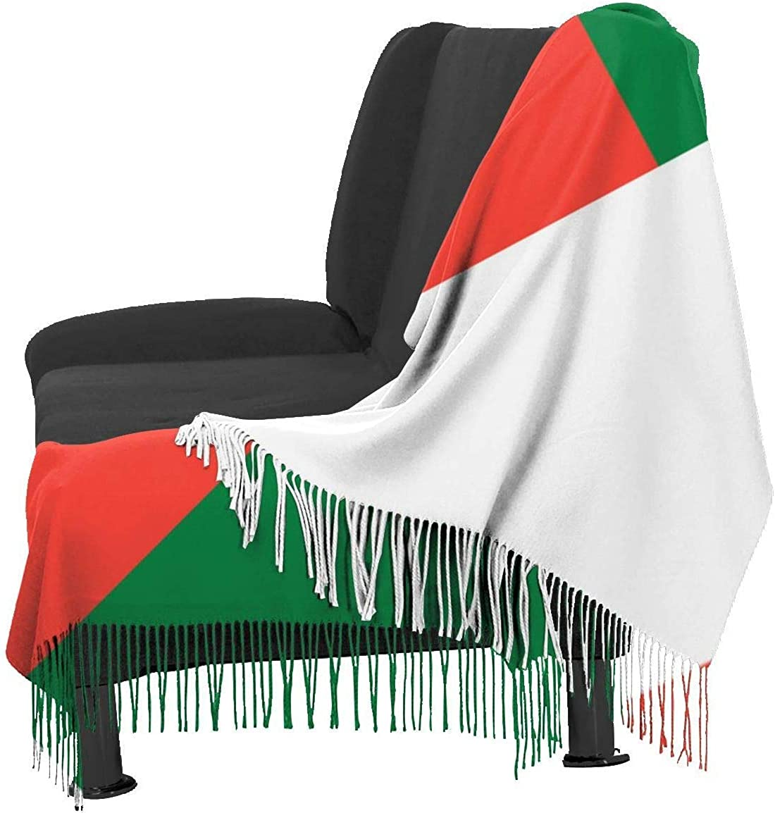 Madagascar Flag Cashmere Scarf Shawl Wraps Super Soft Warm Tassel Scarves For Women Office Worker Travel