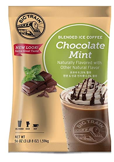 Big Train Blended Ice Coffee, Chocolate Mint, 3.5 Pound, Powdered Instant Coffee Drink