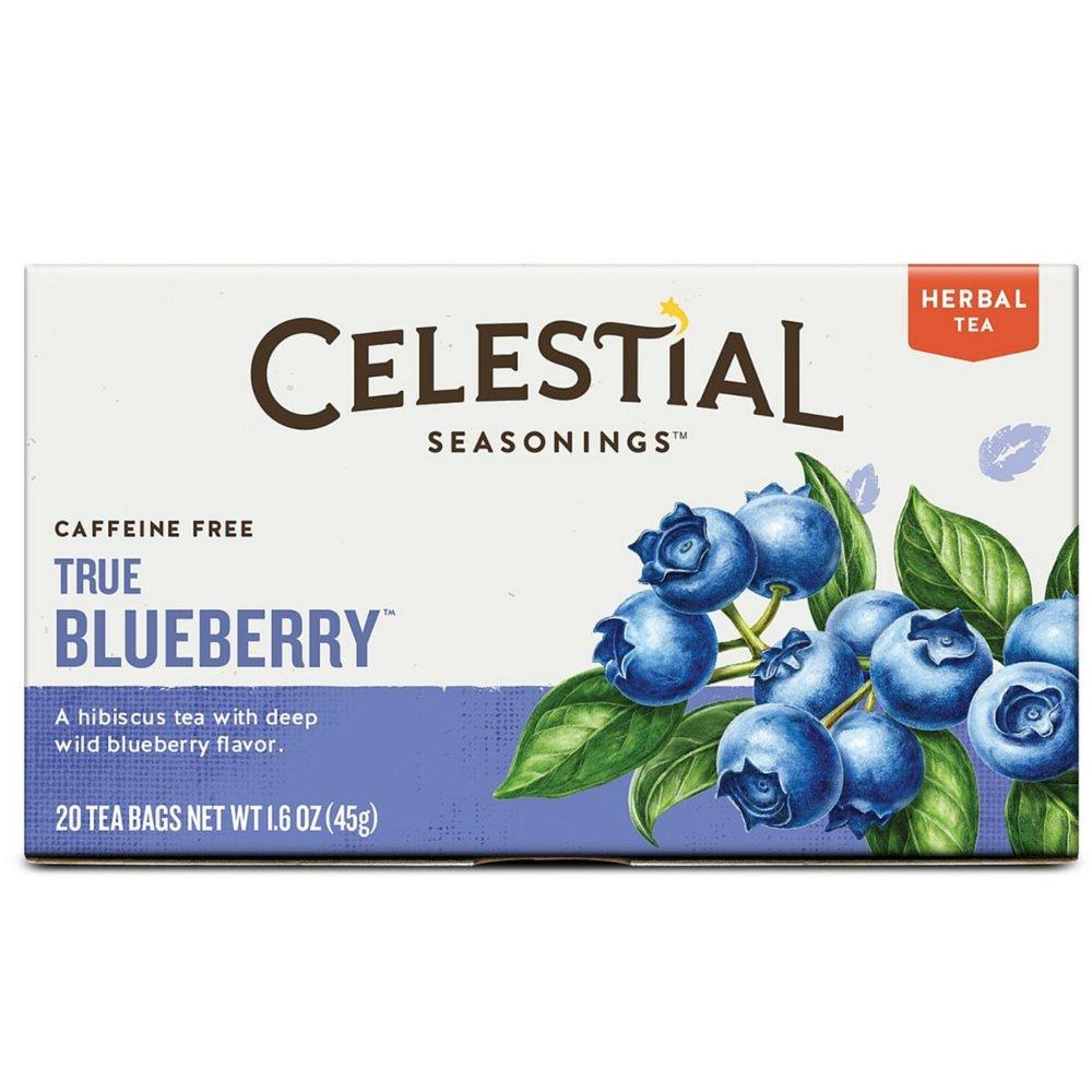 Celestial Seasonings True Blueberry Herbal Tea, 20 Count (Pack of 30)