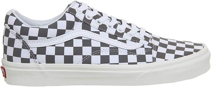 Vans Old Skool Sneakers Damen Herren Unisex Schwarz Weiß Kariert